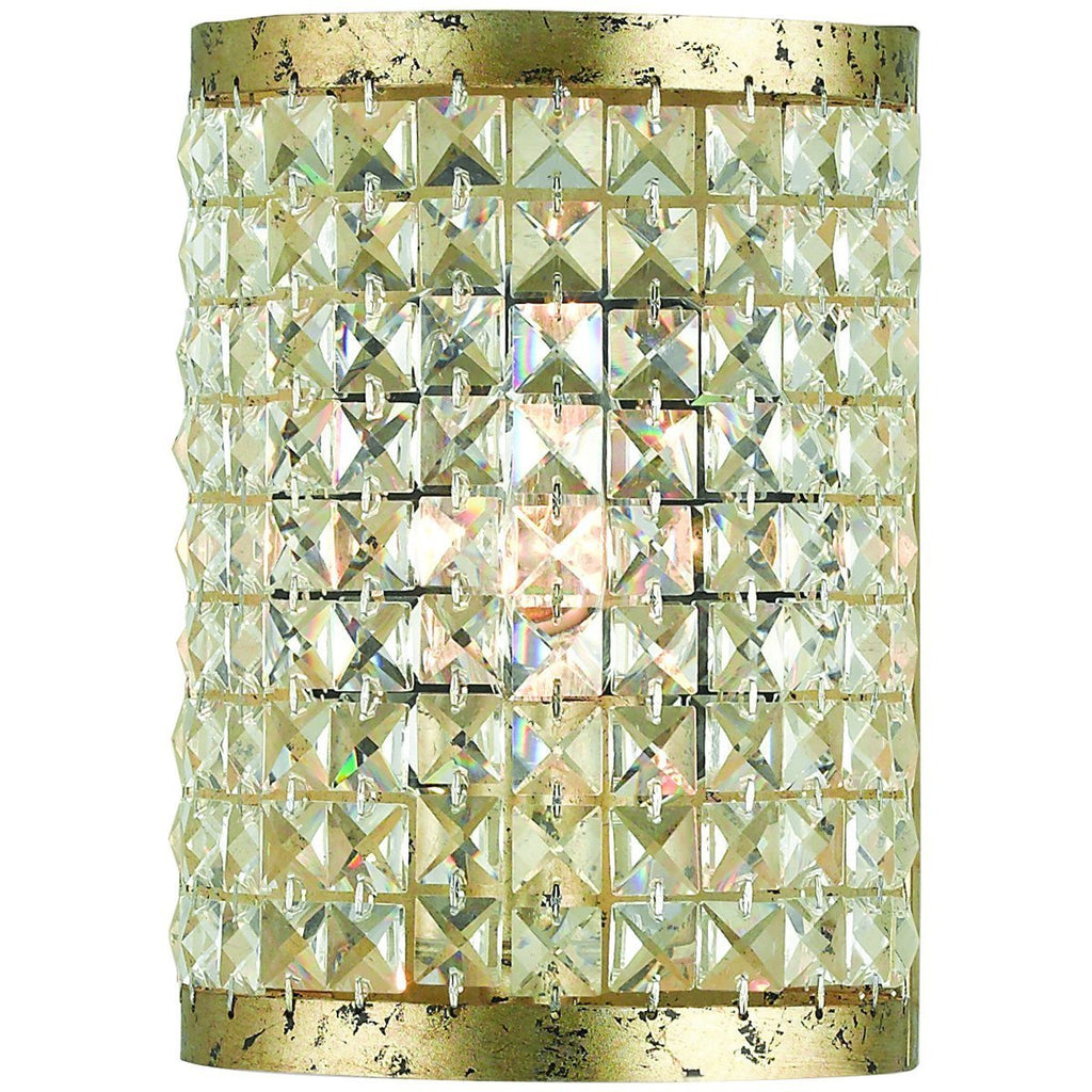 Grammercy 1-Light Clear Crystals Wall Sconce - Winter Gold