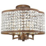 Grammercy 4-Light Convertible Mini Chandelier/Ceiling Mount