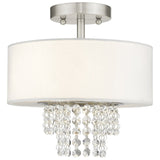 Carlisle 2-Light Brushed Nickel Ceiling Mount