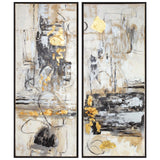 Life Scenes Abstract Art, Set of 2