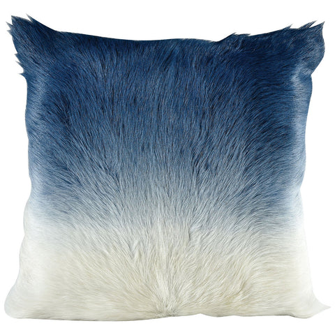 Bareback Pillow in Blue and Ivory