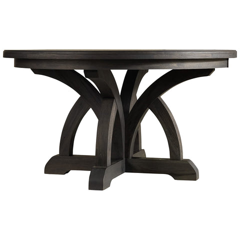 Corsica Dark Wood Round Dining Table
