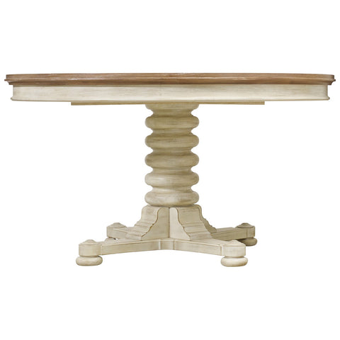 Sunset Point Pedestal Dining Table in Hatteras White
