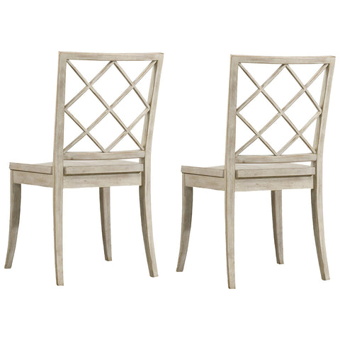 Sunset Point X Back Side Chair in Hatteras White, Set of 2