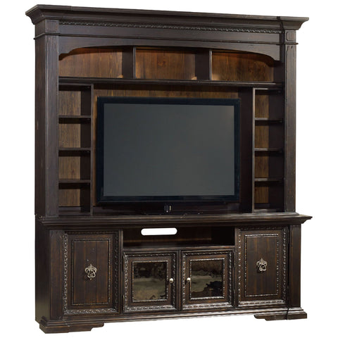 Treviso Entertainment Console Hutch in Black