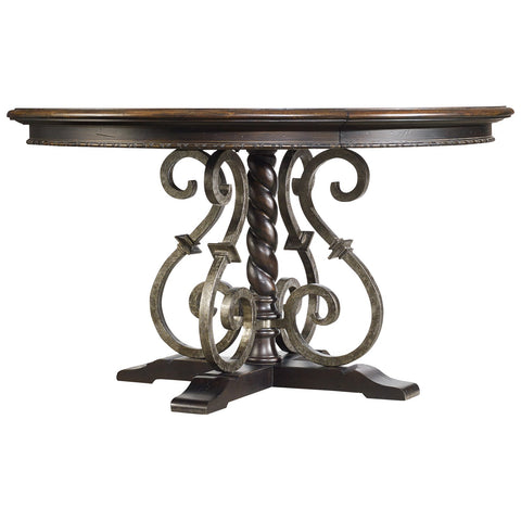 54-inch Black Round Dining Table