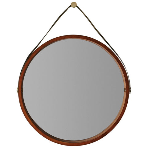 Studio Portal Round Mirror in Medium Wood