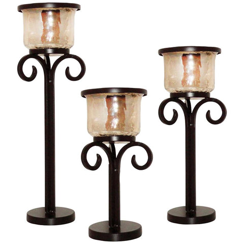 Cheyenne Pillar Holders, Set of 3