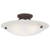 Oasis 3-Light Bronze Ceiling Mount