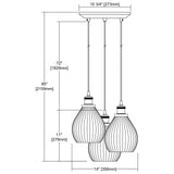 Jackson 3-Light Triangular Pendant Fixture in Oil Rubbed Bronze