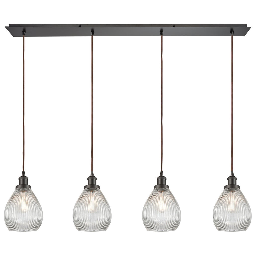 Jackson 4-Light Linear Pendant Fixture in Oil Rubbed Bronze