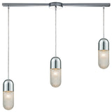 Capsula 3-Light Linear Mini Pendant in Polished Chrome