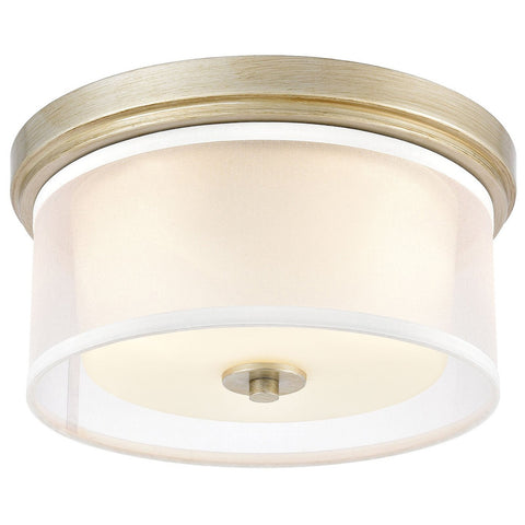 Diffusion 2-Light Flush Mount in Aged Silver