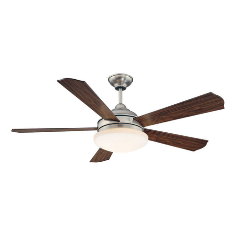 The Britton Satin Nickel Ceiling Fan