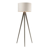Salford 1-Light Satin Nickel Floor Lamp