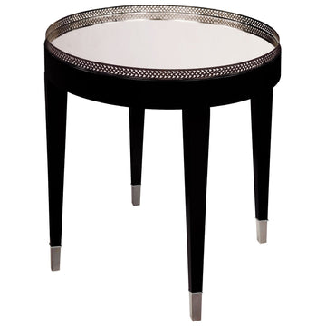 Black Tie Table in Black and Silver