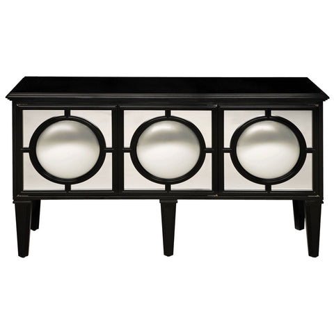 Mirage Gloss Black and Clear Sideboard Ebony