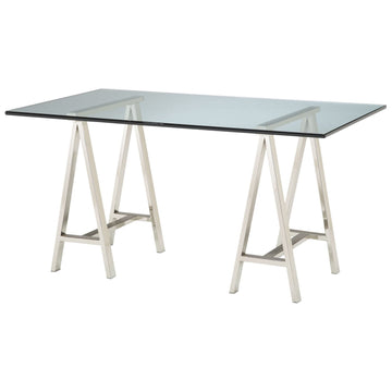 Rectangular Glass Top Table
