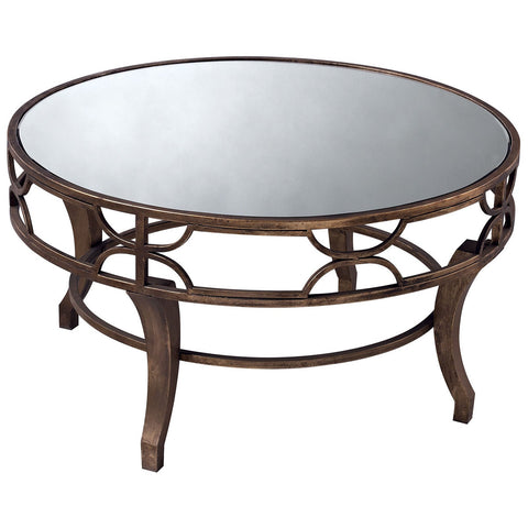 Treviso Coffee Table in Antique Gold and Mirror