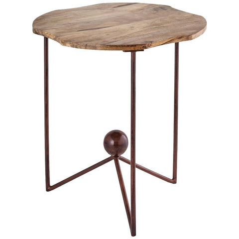 Americana Deep Tray Accent Table in Antique Palonia, Large