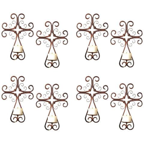 Tejas Wall Sconces, Set of 8