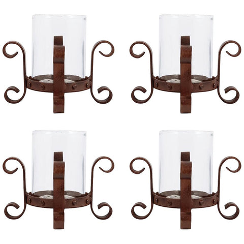 Teton Pillar Holders, Set of 4