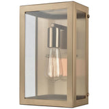 Parameters 1-Light Sconce in Satin Brass with Clear Glass