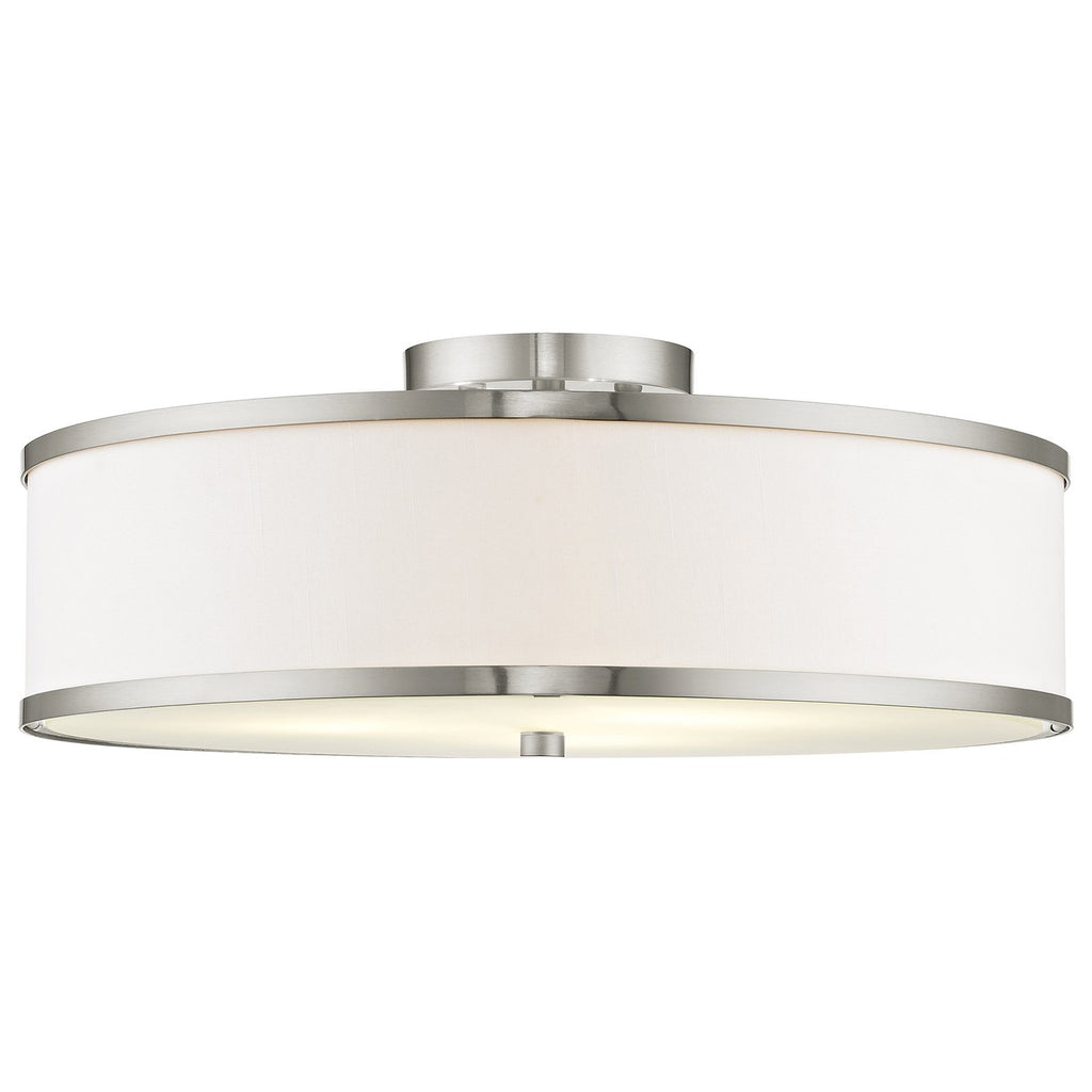 Park Ridge 3-Light Brushed Nickel Ceiling Mount