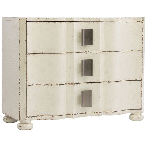 Melange Sunday 3-Drawer Chest in Whites, Creams and Beiges