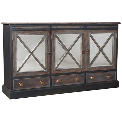 Belle Grove Credenza in Gray