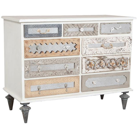 Mosaic Dresser in White