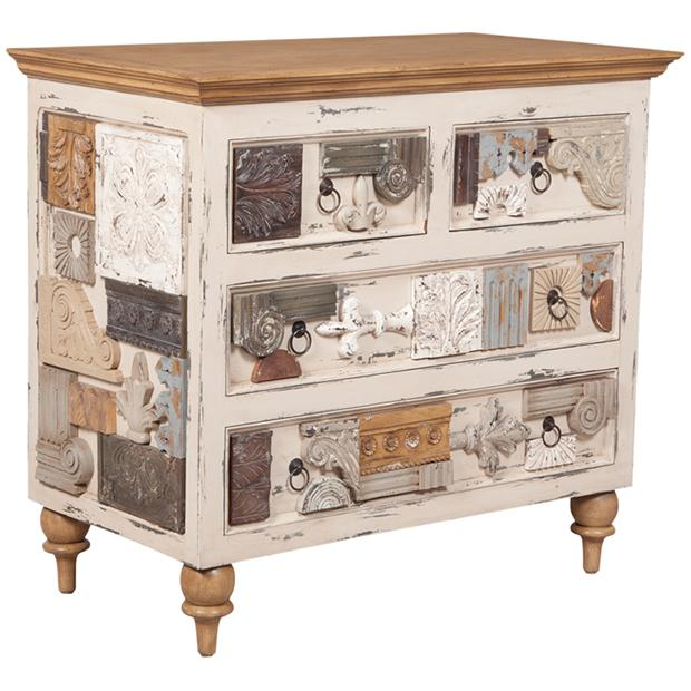 Artifacts Collage Chest in Cream