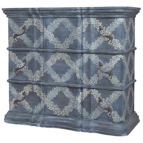 Harmony Classic Leaflet Crosshatch Art Chest in Antique Smoke