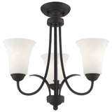 Ridgedale 3-Light Black Convertible Chain Hang/Ceiling Mount