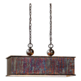 Albiano Rectangle 2 Light Bronze Pendant