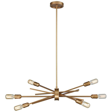 Xenia 6-Light Chandelier in Matte Gold