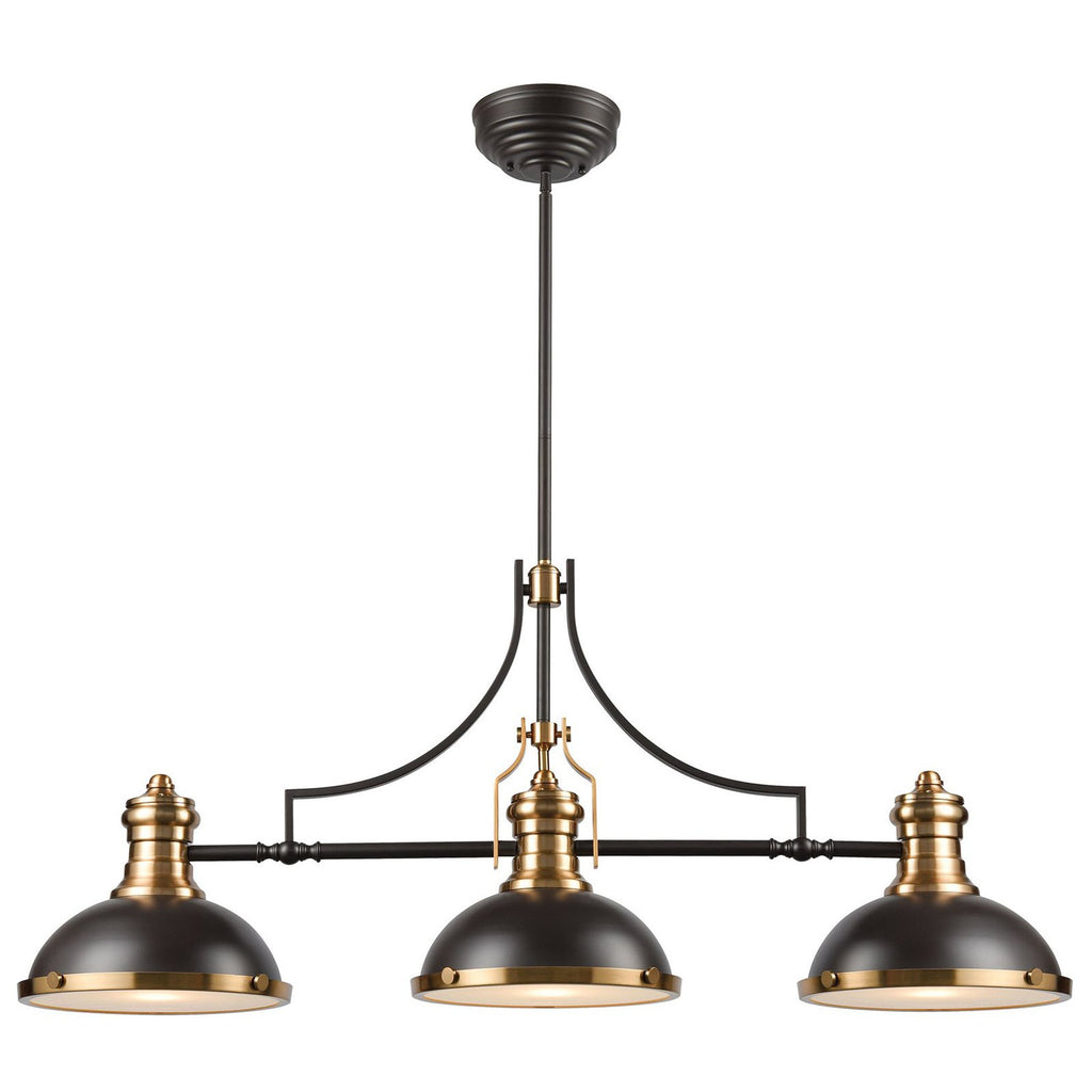 Chadwick 3-Light Island Light in Oil Rubbed Bronze with Metal Shade