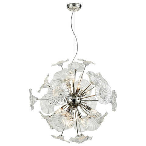 Vershire 12-Light Chandelier with Clear Glass