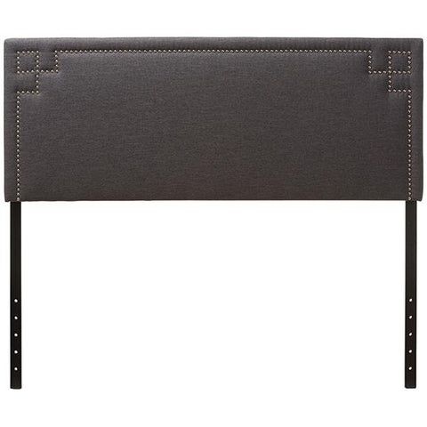 Baxton Studio Geneva Modern and Contemporary Fabric Upholstered Headboard