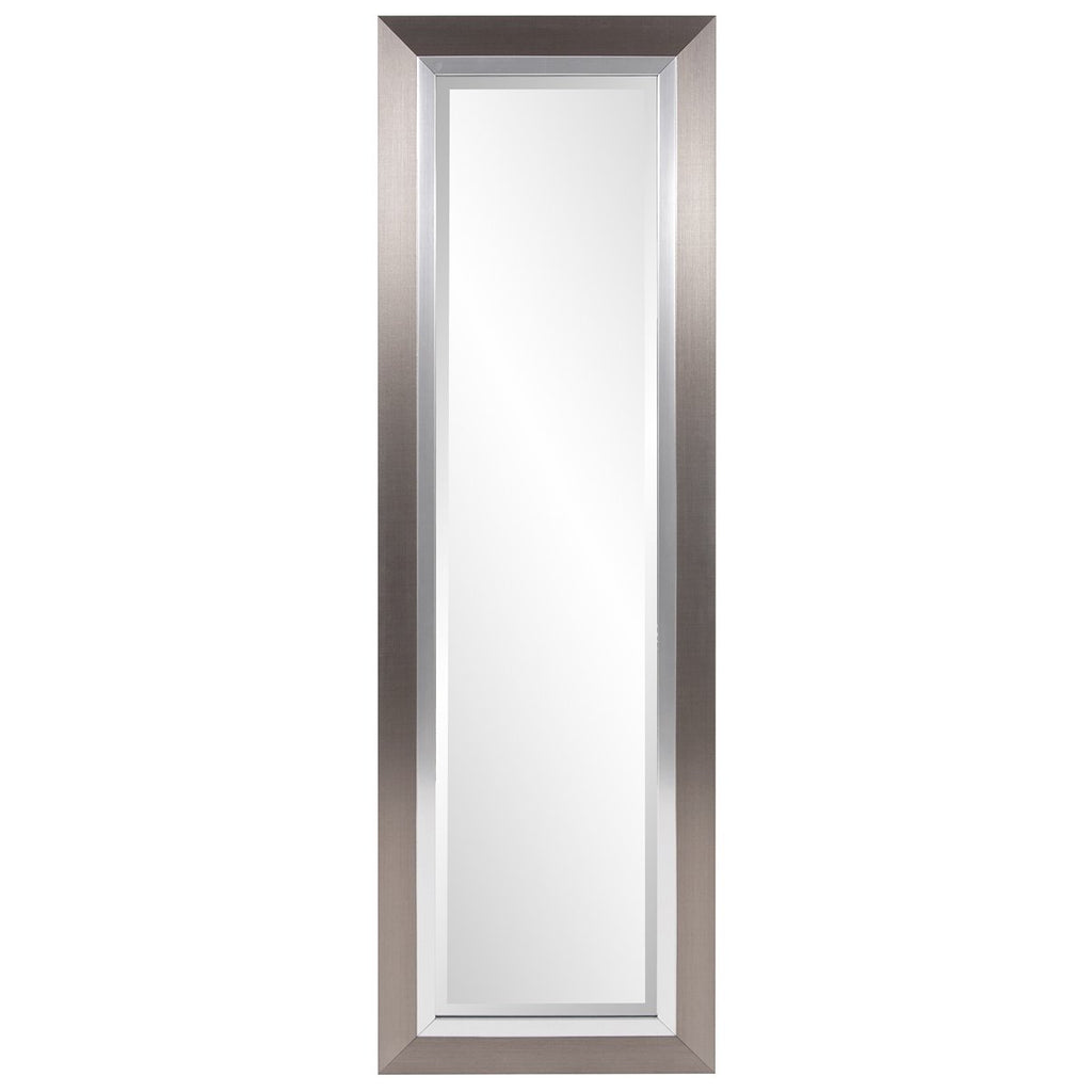 Chicago Brushed Silver Tall Mirror