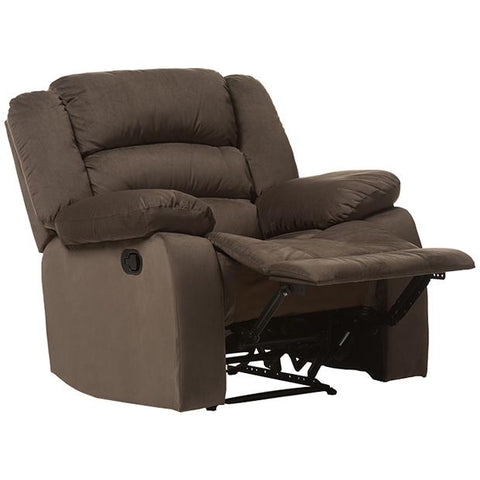 Baxton Studio Hollace Modern and Contemporary Taupe Microsuede 1-Seater Recliner