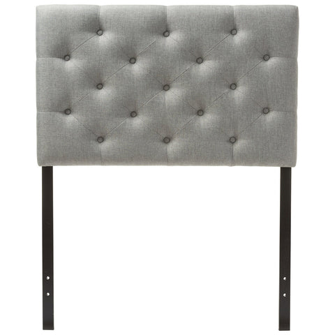 Baxton Studio Viviana Fabric Upholstered Button-Tufted Twin Size Headboard