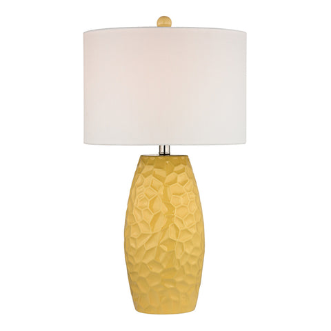 Selsey 1-Light Sunshine Yellow Table Lamp