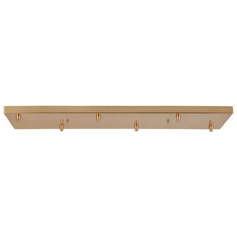 Pendant Options 6-Hole Linear Pan for Pendants in Satin Brass