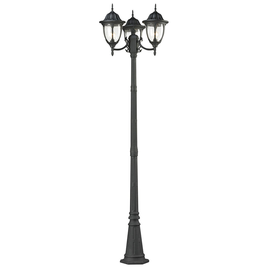 Central Square 3-Light Outdoor Post Lamp in Charcoal