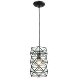 Tetra 1-Light Pendant in Oil Rubbed Bronze with Clear Glass