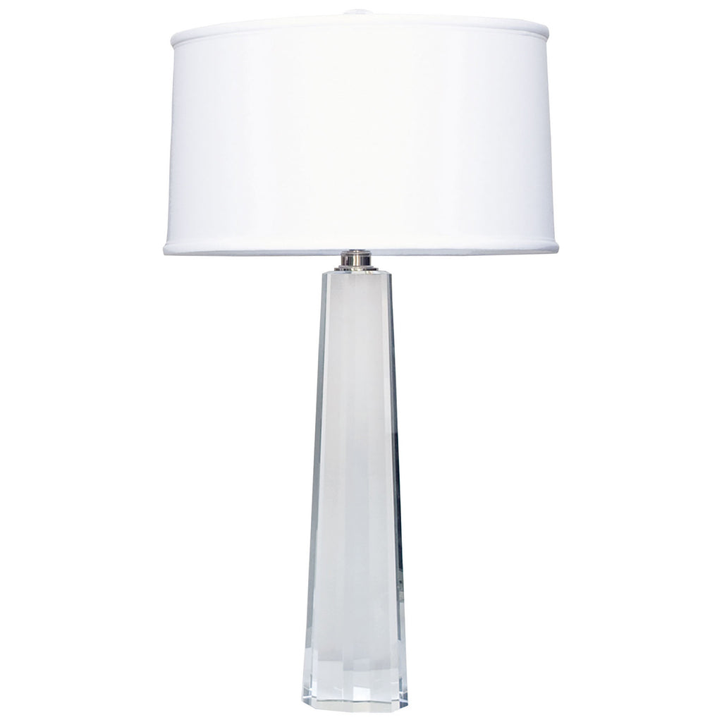 Crystal Faceted Column Table Lamp