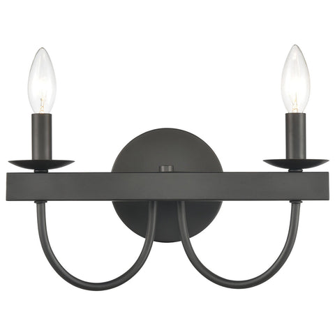 Williamson 2-Light Vanity Light in Black