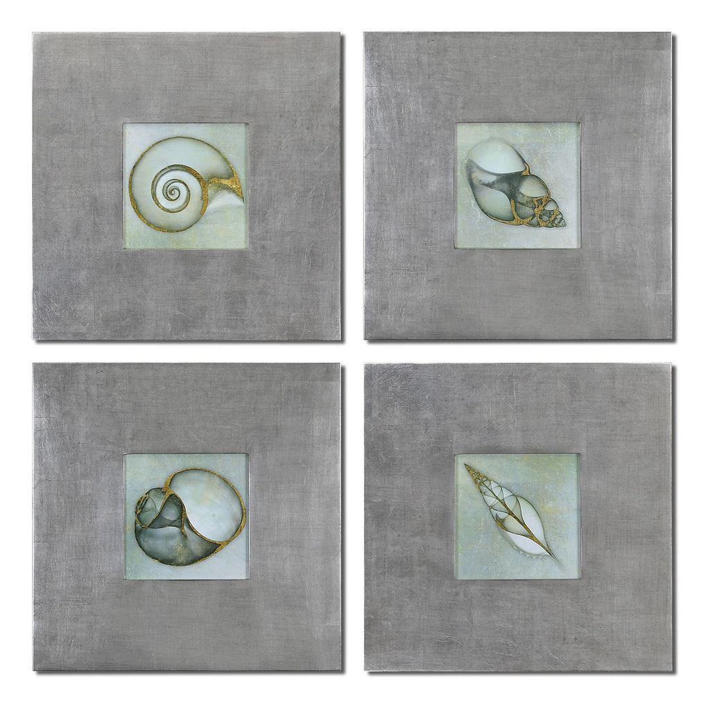 Neptunes Garden Framed Art, Set of 4