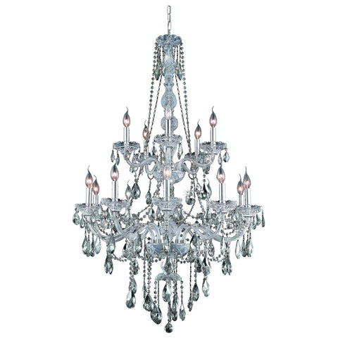 Verona 15-Light 33-Inch Chandelier with Crystal